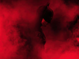 The Batman Red Theme Dope wallpaper