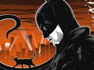The Batman Robert Pattinson Illustration wallpaper