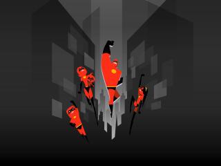 The Incredibles 2 Minimal Art Poster wallpaper