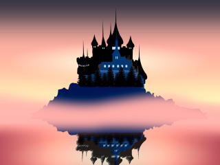 The Island and The Castle wallpaper
