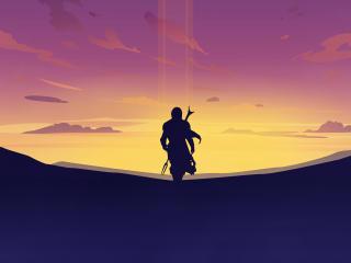 The Mandalorian 4K Art wallpaper