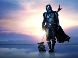 The Mandalorian and The Child wallpaper