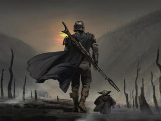 The Mandalorian Concept Art wallpaper