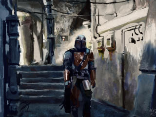 The Mandalorian Drawing wallpaper