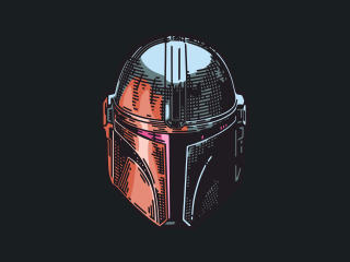 The Mandalorian Minimal Mask wallpaper