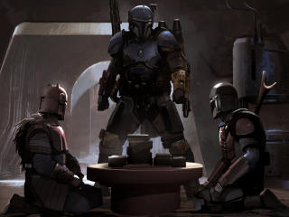 The Mandalorian Sanctuary Art wallpaper