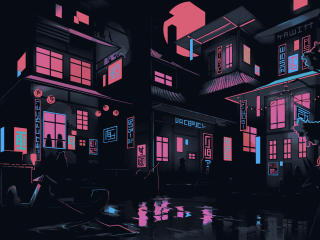The Neon Shallows Building wallpaper