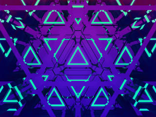 The Neon Triangles wallpaper