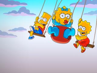 The Simpsons Kids 4K wallpaper