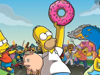 The Simpsons on Run wallpaper