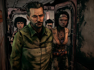 The Walking Dead The Telltale Graphic Black wallpaper
