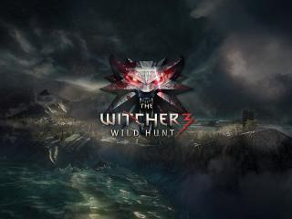 the witcher 3, wild hunt, logo wallpaper