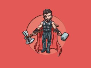 Thor 4K  MCU Art wallpaper