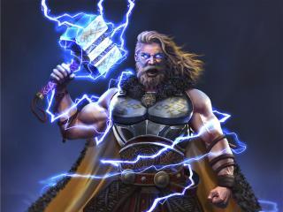 Thor Art God of Thunder wallpaper
