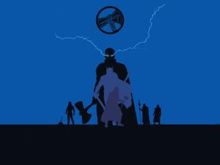 Thor Avengers Minimal 4K wallpaper
