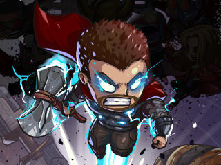 Thor Endgame Cartoon Art wallpaper