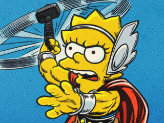 Thor Lisa Simpson wallpaper