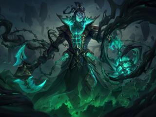 Thresh League Of Legends Digital Art wallpaper