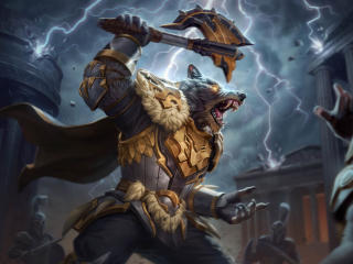 Thunderfang Thor Smite wallpaper