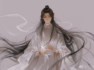 Tian Guan Ci Fu Character Painting wallpaper