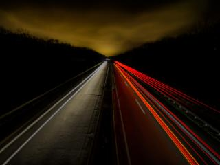 Time-Lapse Night Road wallpaper