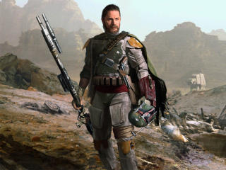 Tom Hardy as Boba Fett Bounty Hunter wallpaper