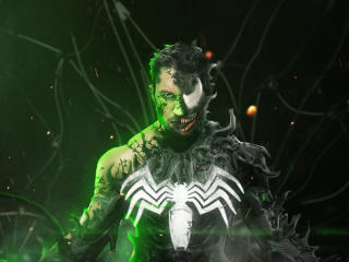Tom Hardy As Venom 4k Digital Art wallpaper
