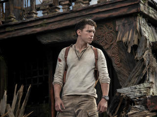 Tom Holland as Nathan Drake Uncharted 2021 wallpaper