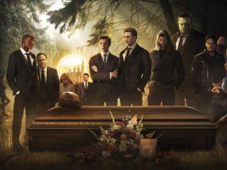 Tony Stark Funeral Avengers Endgame wallpaper