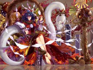 touhou, yasaka kanako, anime wallpaper