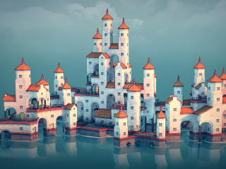 Townscaper HD Gaming wallpaper