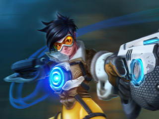 Tracer 4K Overwatch wallpaper