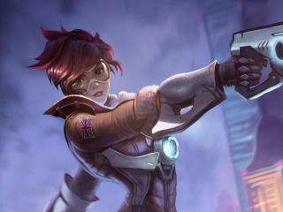 Tracer In Overwatch wallpaper