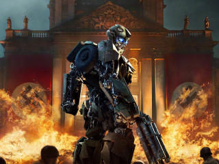 Transformers The Last Knight Bumblebee Against The Nazis wallpaper