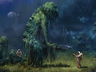 HD Wallpaper | Background Image Tree Gods In Space