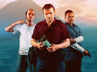 Trevor, Franklin and Michael in GTA wallpaper