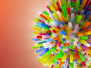 tubes, colorful, 3d wallpaper