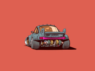 Turbo 2077 Minimal Cat wallpaper