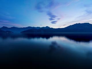 Twilight Mountain Lake wallpaper