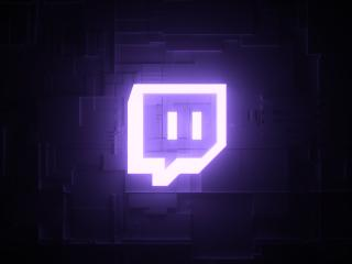 Twitch 4K Logo wallpaper