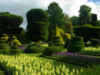 uk, bodnant gardens wales, lawns wallpaper