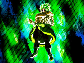 Unstoppable Broly 4K wallpaper