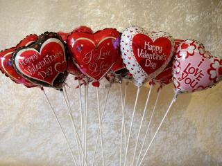 valentines day, hearts, balloons wallpaper