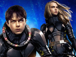 Valerian And Laureline In Valerian And The City Of A Thousand Planets wallpaper