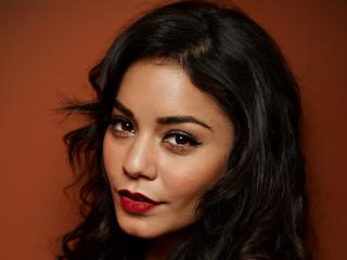 vanessa hudgens, face, black hair wallpaper