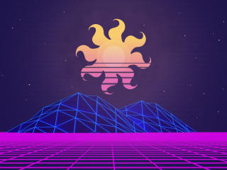 Vaporwave Sun Art wallpaper