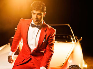 Varun Dhawan with car wallpapers wallpaper