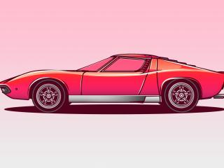 Vectorized Lamborghini Miura wallpaper