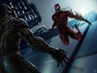 Venom vs Carnage Movie Concept Art wallpaper