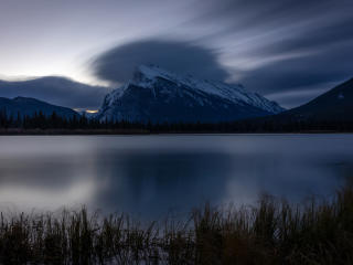 HD Wallpaper | Background Image Vermillion Lakes Mount Rundle in Banff National Park